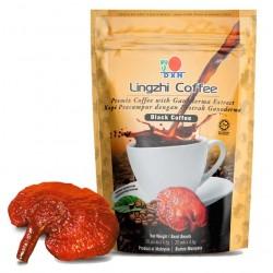 Café negro con ganoderma
